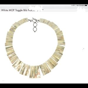 Jewelry - MOP Bib necklace sterling silver toggle clasp